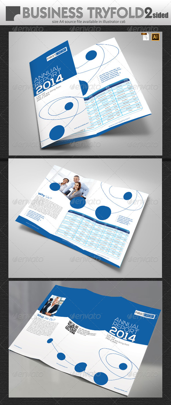 GraphicRiver Business Report TriFold Design 6507119