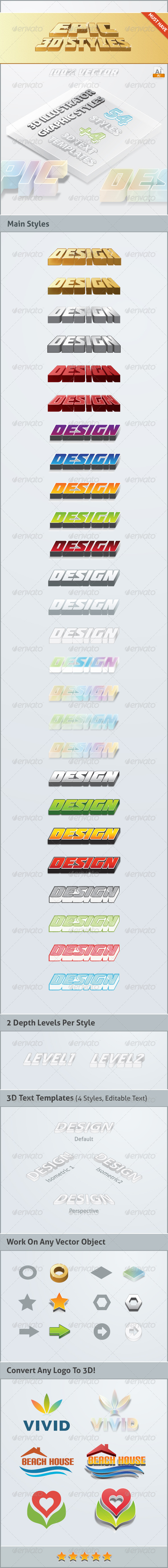 GraphicRiver Epic 3D Styles Illustrator 6507307