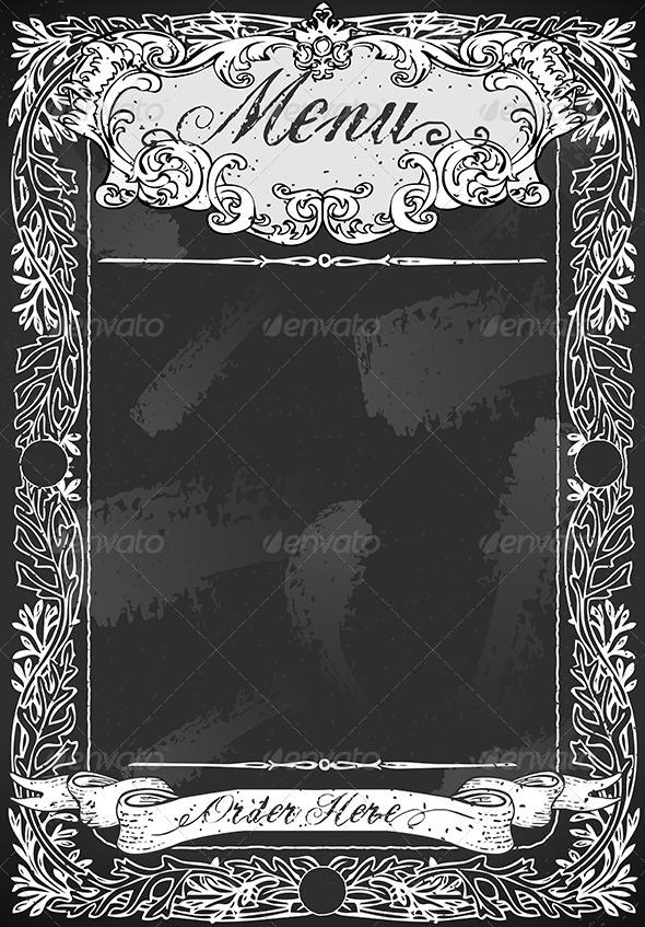 GraphicRiver Vintage Blackboard for Restaurant Menu 6507614