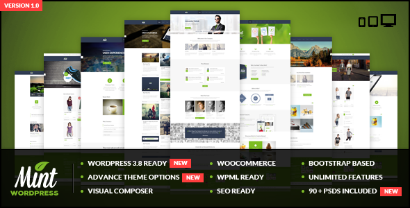 ThemeForest Mint Responsive Multi-Purpose WordPress Theme 6471912