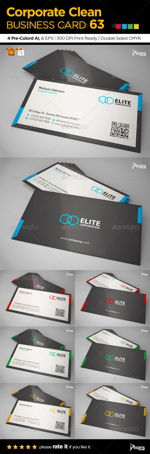 GraphicRiver Corporate Clean Business Card 63 6507621