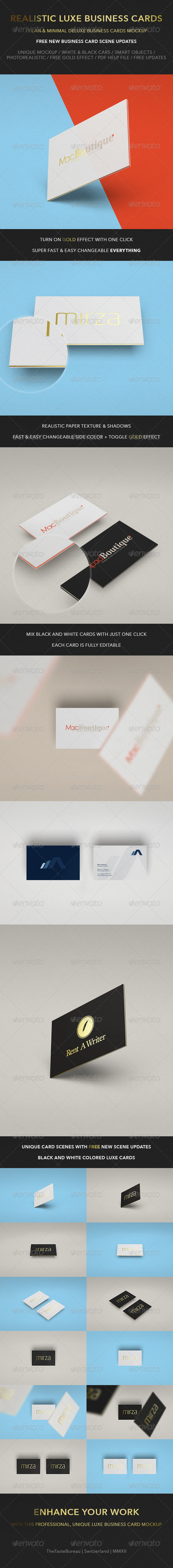 GraphicRiver Realistic Luxe Business Card Mock-Up 6507623