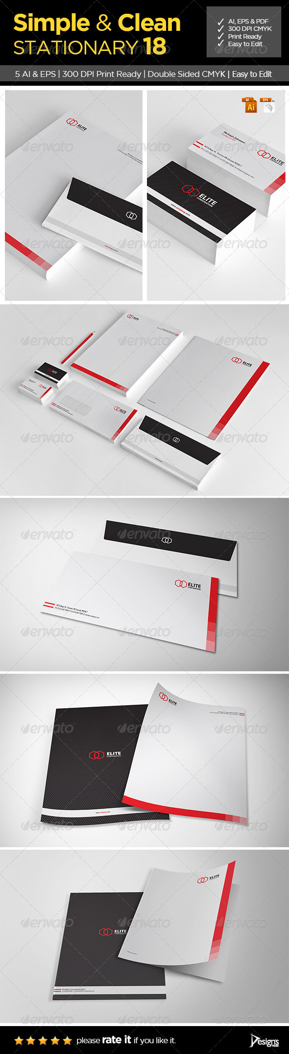 GraphicRiver Simple and Clean Stationary 18 6507676