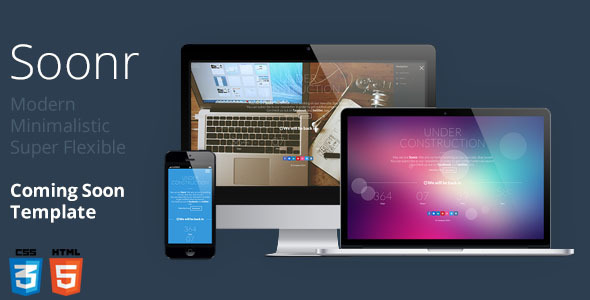 ThemeForest Soonr Modern Flexible Coming Soon Template 6507267
