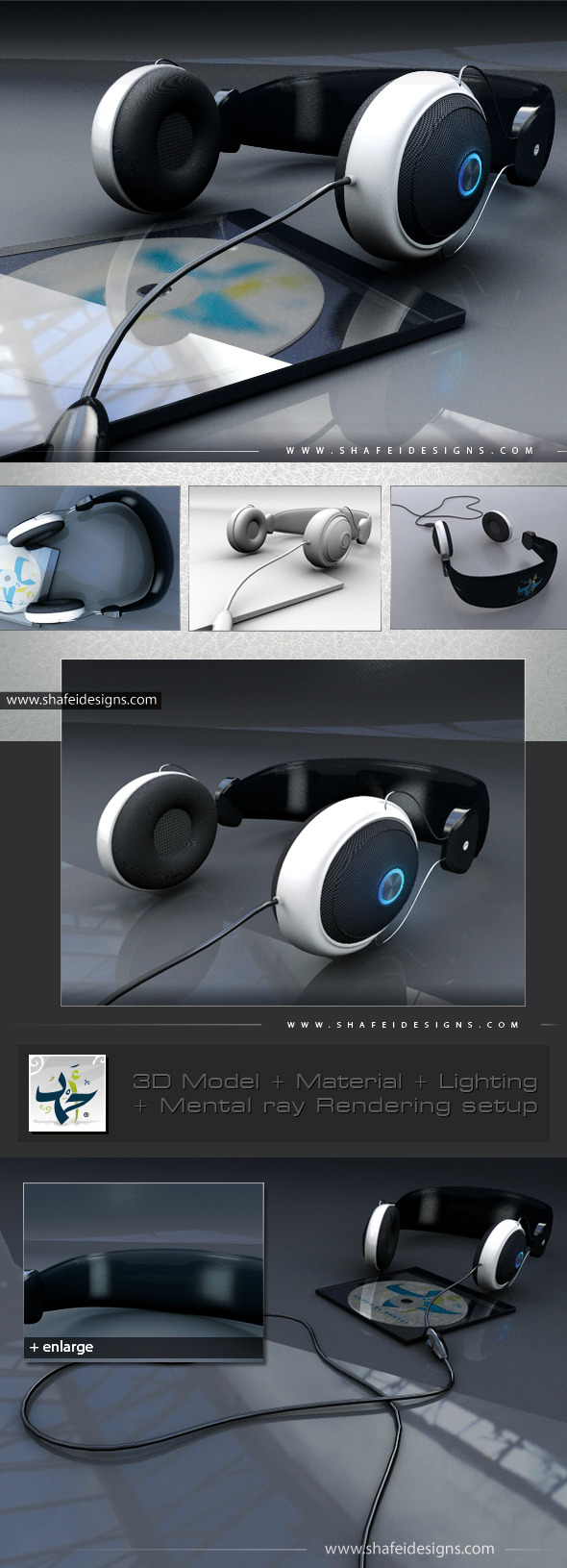 PC Headphone 3D Model - 3DOcean Item for Sale