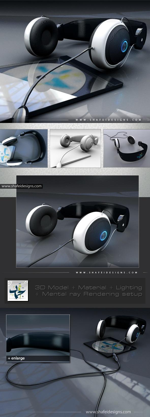 3DOcean PC Headphone 3D Model 680788