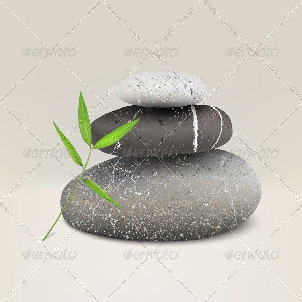 GraphicRiver Realistic Illustration of Three Stones for Spa 6507732