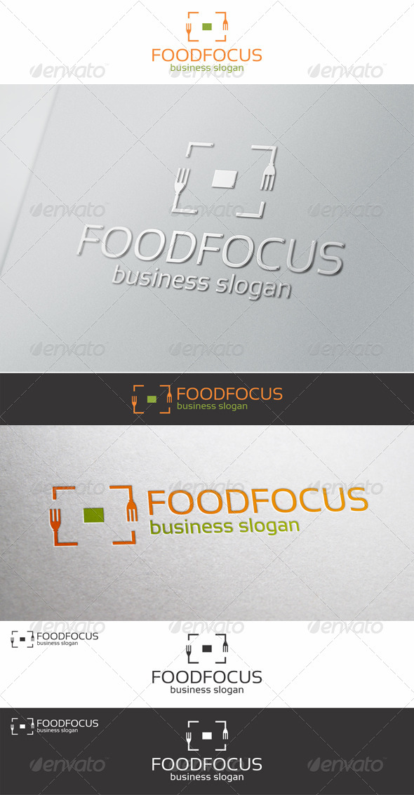 Food Focus Logo Template - Food Logo Templates