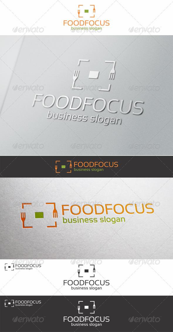 GraphicRiver Food Focus Logo Template 6508292