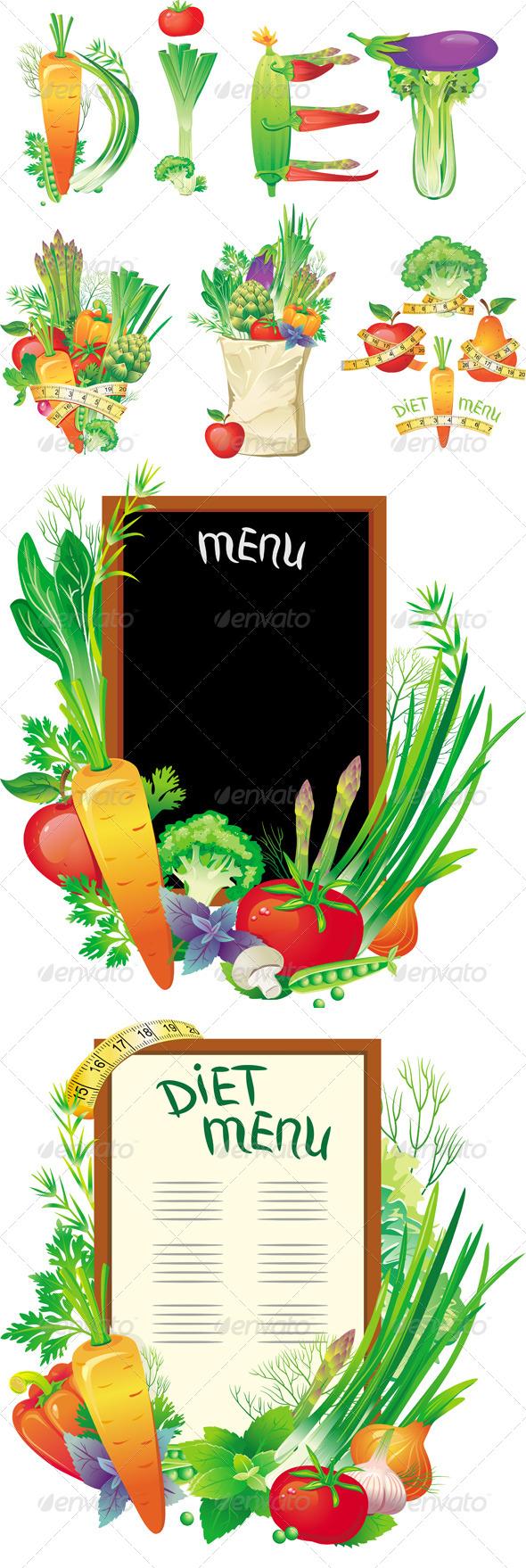 GraphicRiver Diet Menu Concept 6508531