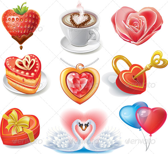 GraphicRiver Heart-Shaped Set 6508655