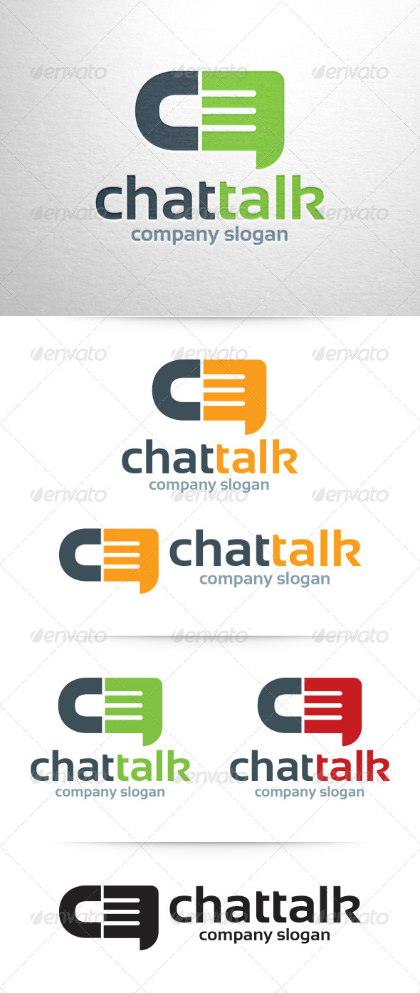GraphicRiver Chat Talk Logo Template 6508711
