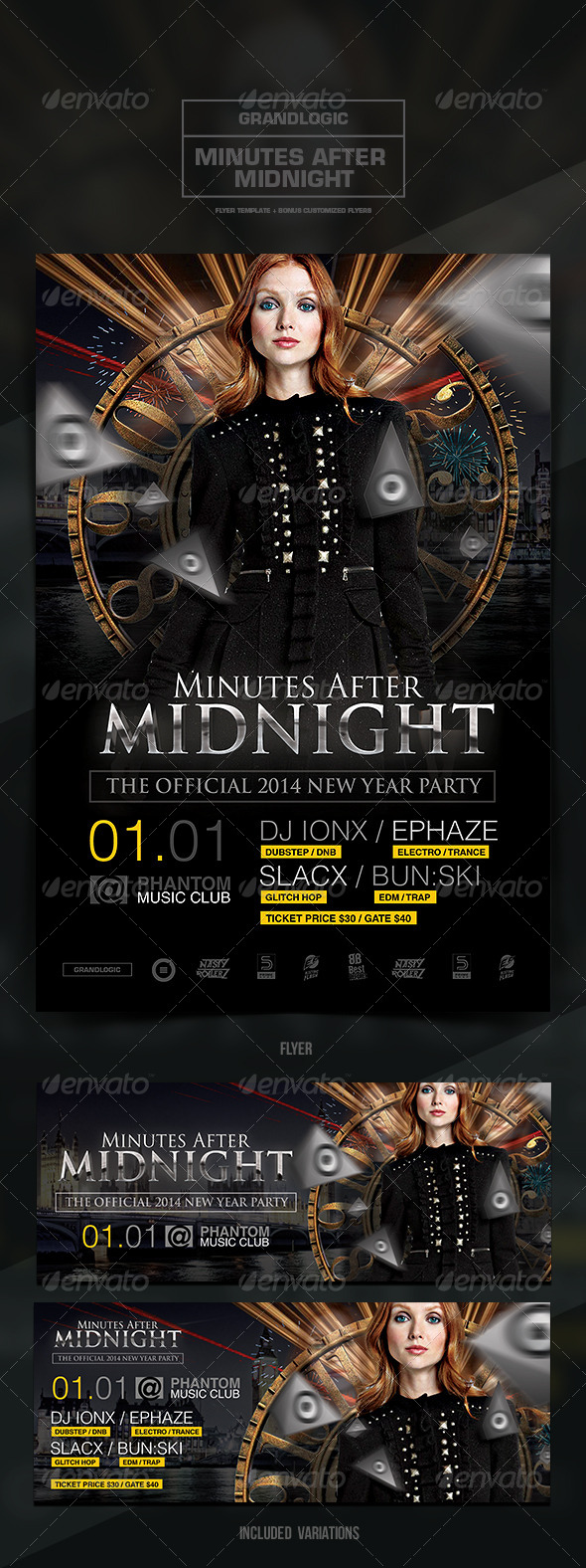 GraphicRiver New Years Party Flyer Poster 6487184