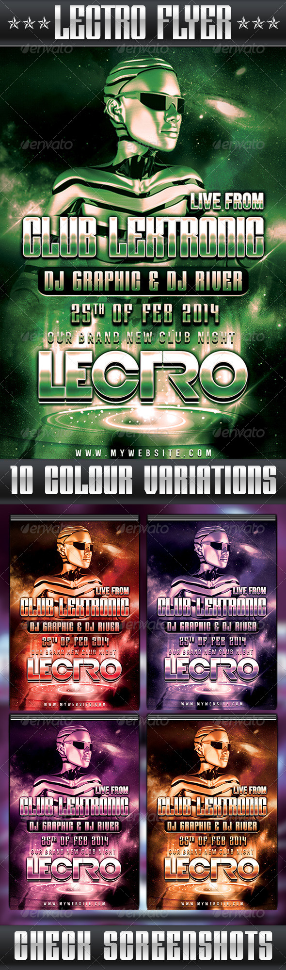 GraphicRiver Lectro Flyer 6483294