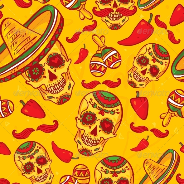 GraphicRiver Cinco De Mayo Seamless Pattern 6508853