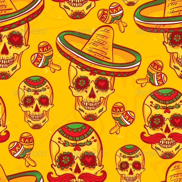 GraphicRiver Cinco De Mayo Seamless Pattern 6508860