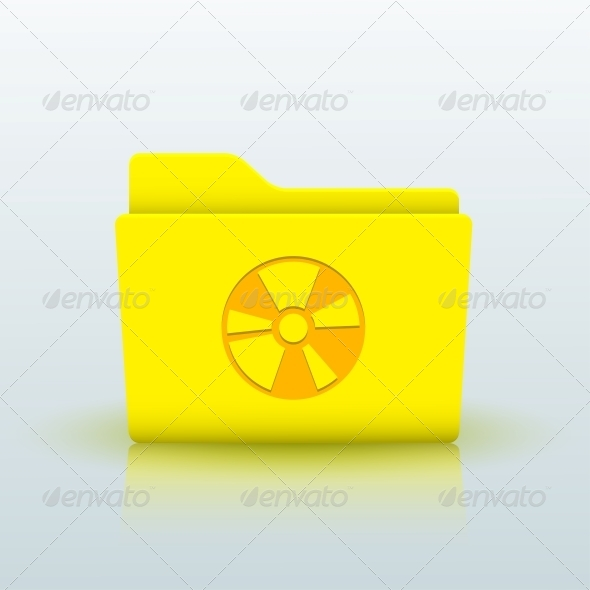 GraphicRiver Vector Yellow Folder on Blue Background Eps10 6508989