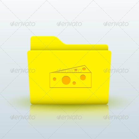 GraphicRiver Vector Yellow Folder on Blue Background Eps10 6508992