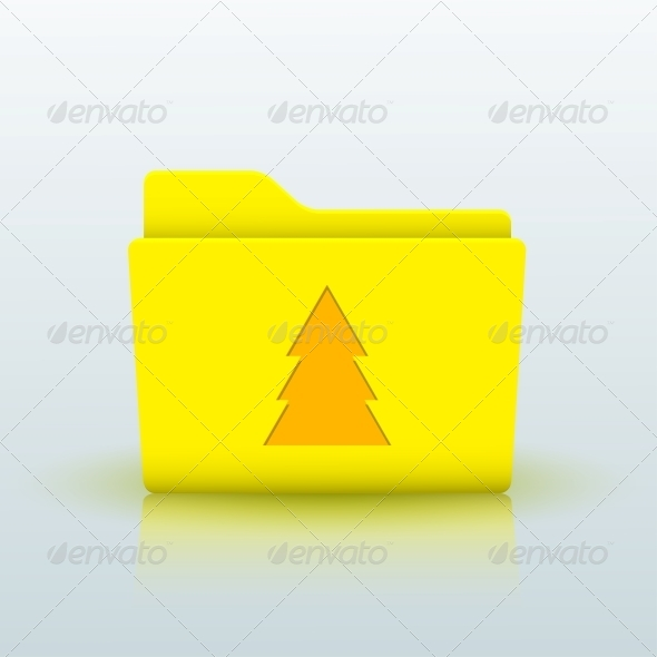 GraphicRiver Vector Yellow Folder on Blue Background Eps10 6508996