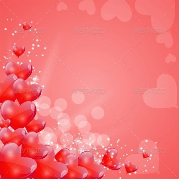 GraphicRiver Valentines Day Card with Heart Shaped Balloons 6509263