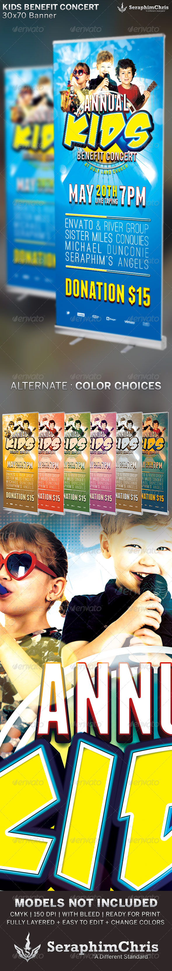 GraphicRiver Kids Benefit Concert Church Banner Template 6509325