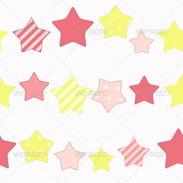 GraphicRiver Cute Star Seamless Pattern Background Vector Illus 6509333