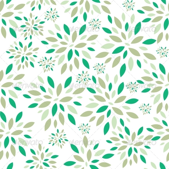 GraphicRiver Flower Leaves Seamless Pattern Background Vector I 6509363