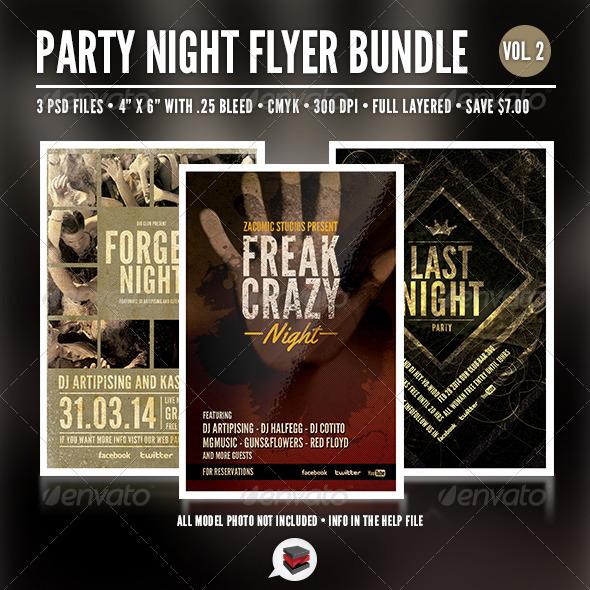GraphicRiver Party Flyer Bundle Vol 2 6509382