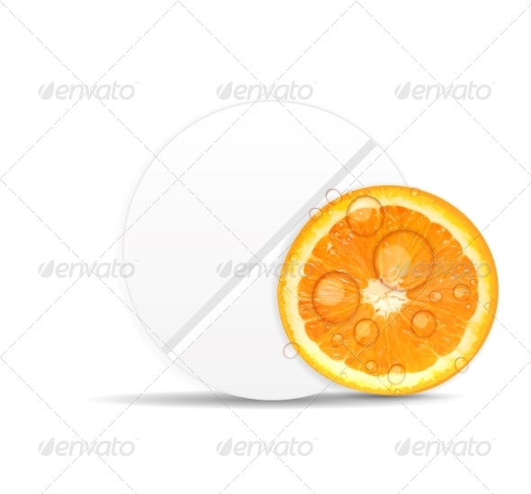 GraphicRiver Orange Pill Icon Environment Background Vector 6509413