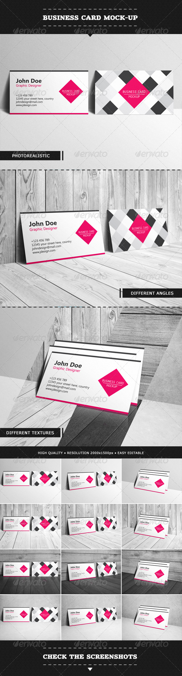 GraphicRiver Business Card Mock-up 6508762