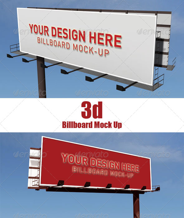 3D Billboard Mock Up