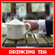 Drinking Tea in Restaurant - VideoHive Item for Sale