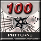 100 Traditional Media Seamless Patterns