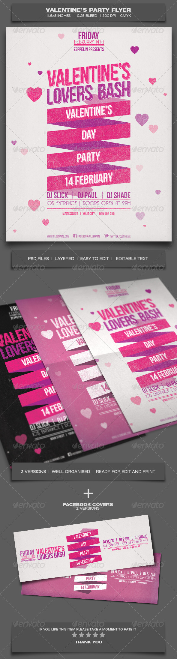 GraphicRiver Valentine s Day Party Event Flyer Template 2 6509805