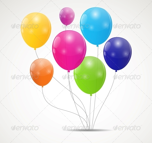 GraphicRiver Color Glossy Balloons Background Vector 6509810