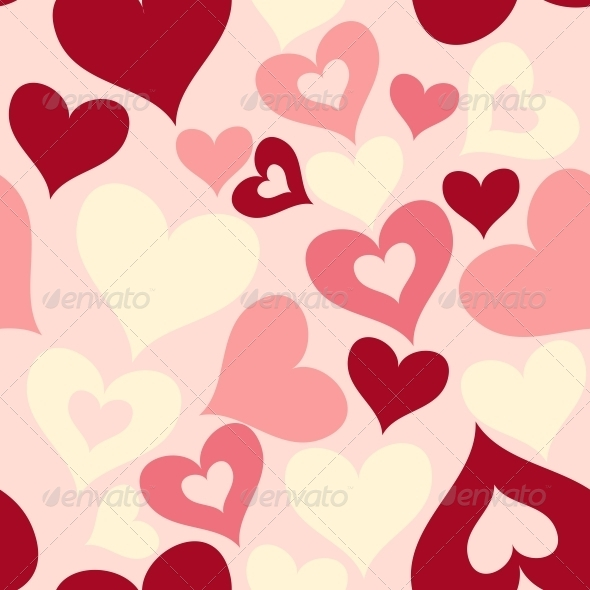 GraphicRiver Valentine Seamless Hearts Pattern 6509845