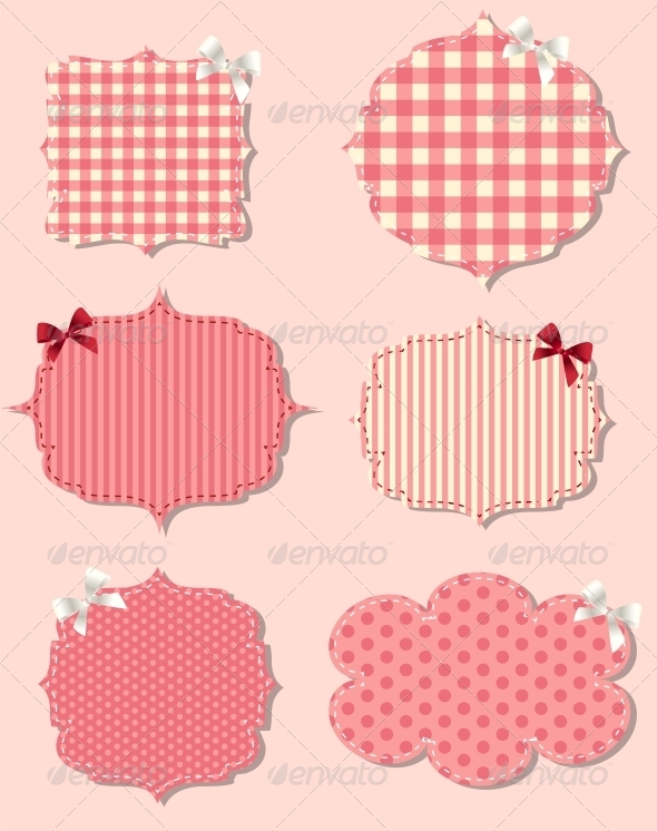 Set of Different Valentine`s Day Labels