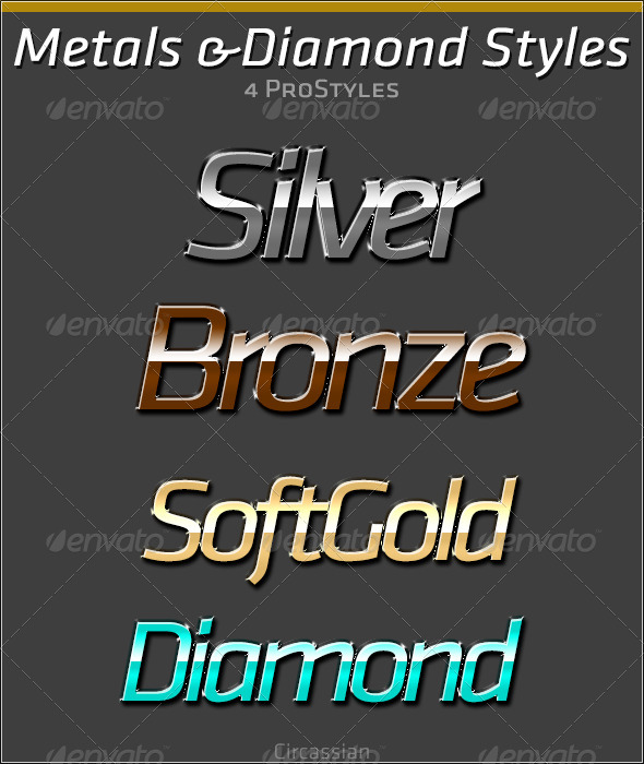 GraphicRiver Metals & Diamond Styles 6509925