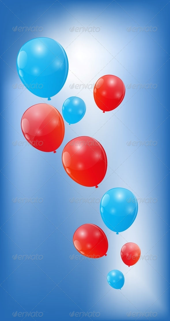GraphicRiver Color Glossy Balloons Background Vector 6509946