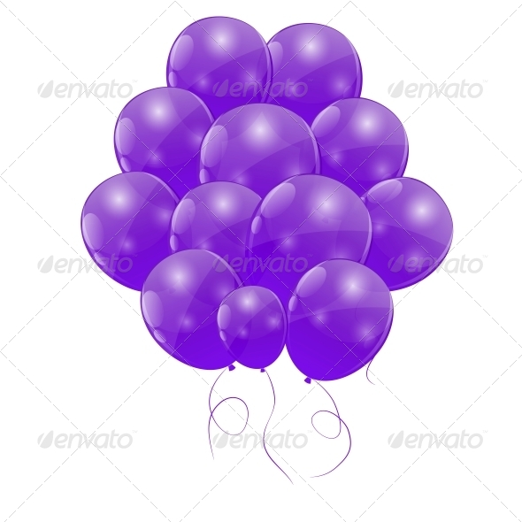 GraphicRiver Color Glossy Balloons Background Vector 6509984
