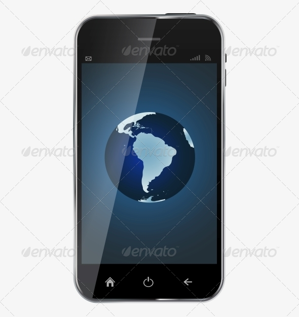 GraphicRiver Abstract Design Realistic Mobile Phone 6510029