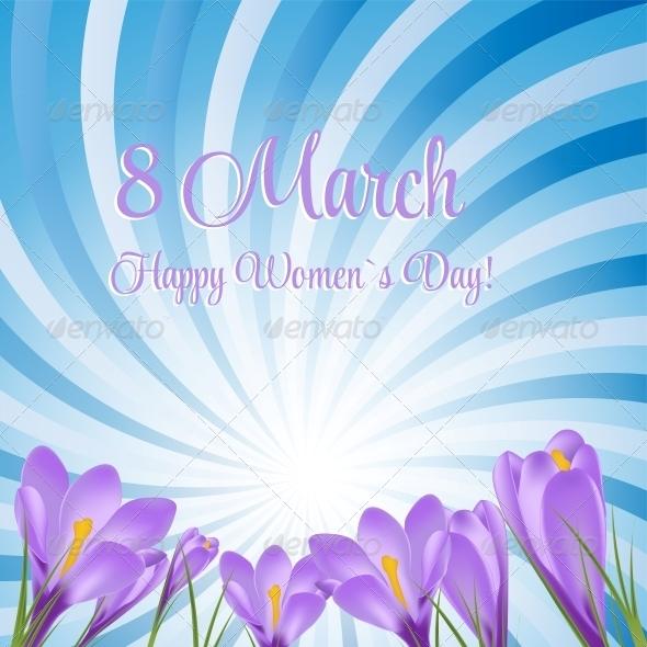 GraphicRiver Crocus Flower Background 6510068