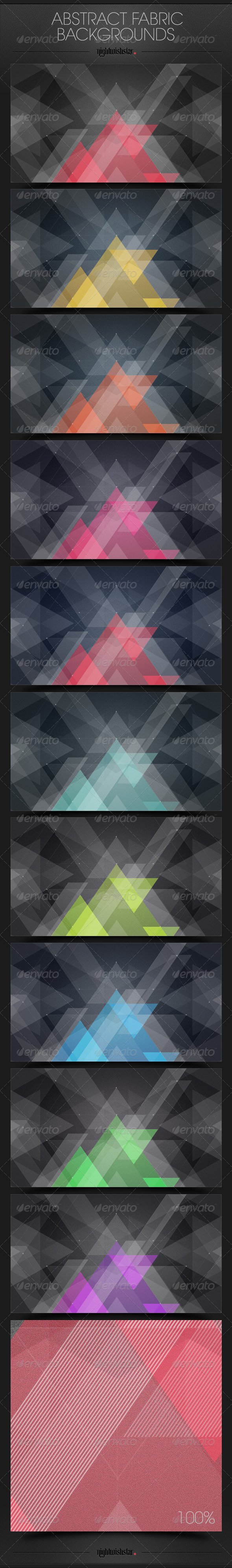 GraphicRiver Abstract Fabric Triangles Backgrounds 6510163