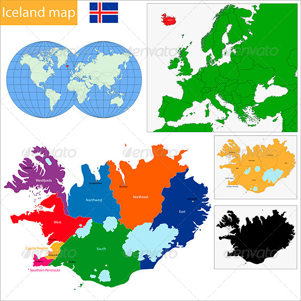 GraphicRiver Iceland Map 6510165