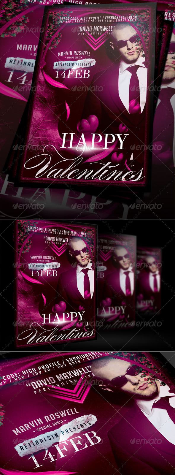 GraphicRiver Happy Valentines Party Flyer Template 6510359