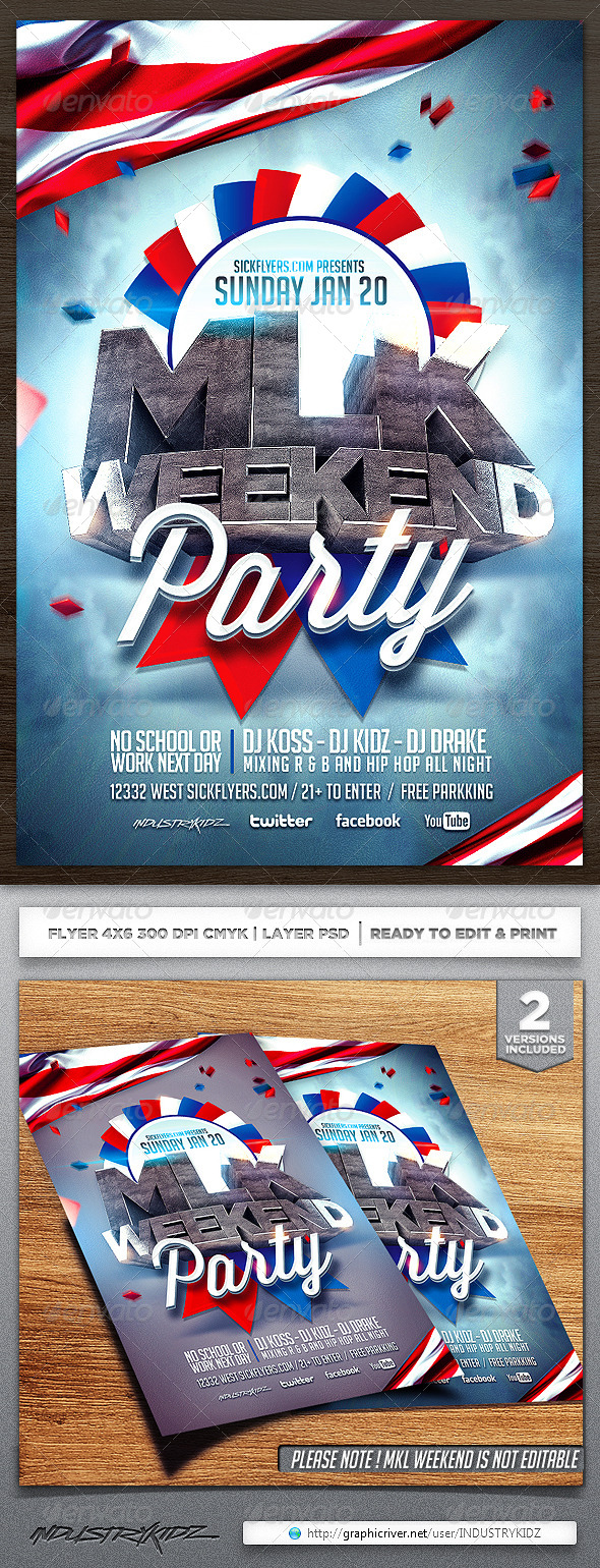 GraphicRiver MLK Weekend Flyer Template 6510668