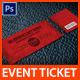 Valentine's Event Ticket - GraphicRiver Item for Sale