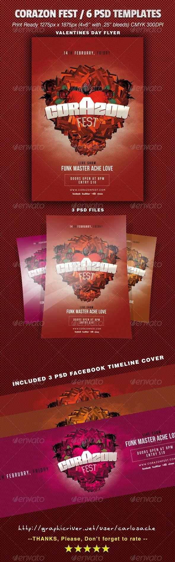 GraphicRiver Corazon Fest 6 PSD Templates 6510982