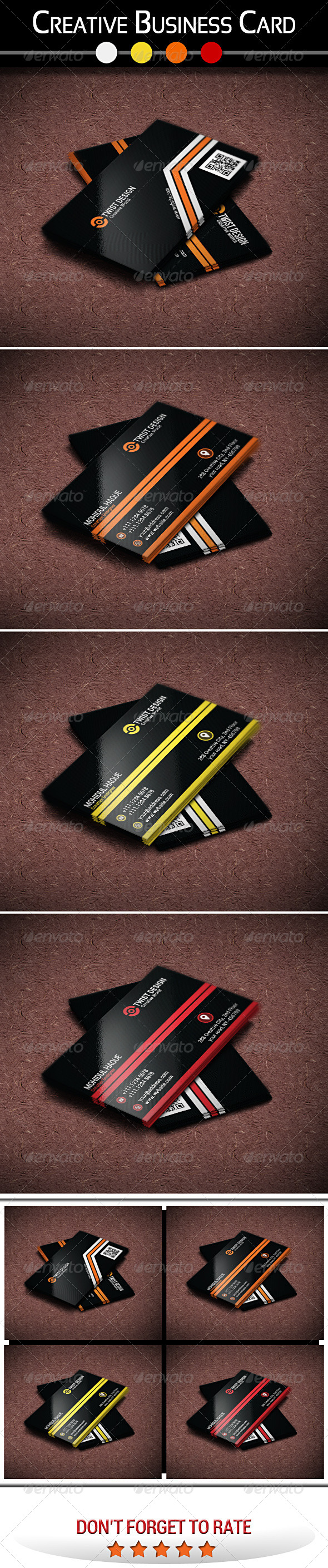 Creative Business Card V-2 - Creative Business Cards