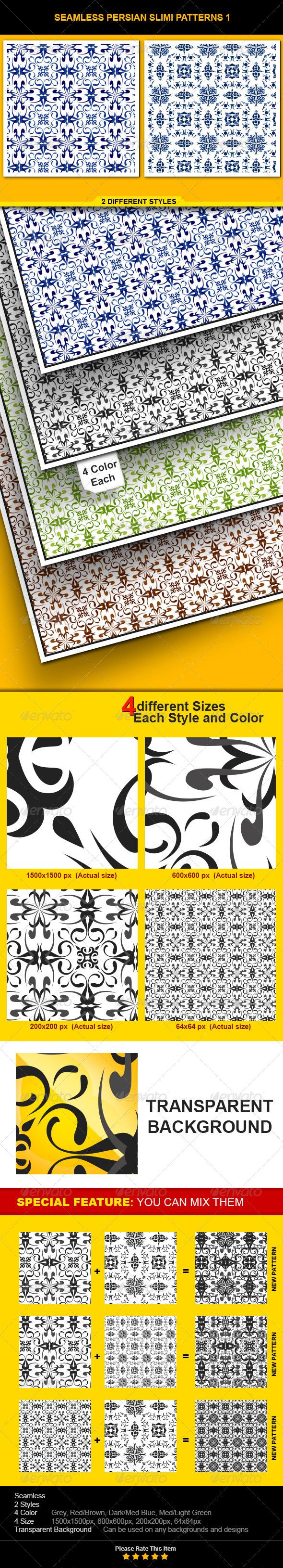 GraphicRiver Seamless Persian Slimi 6511067